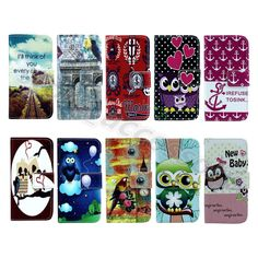 For LG Cellphone Ultra Pretty Folio Card Stand Case Synthetic Leather Cool Cover