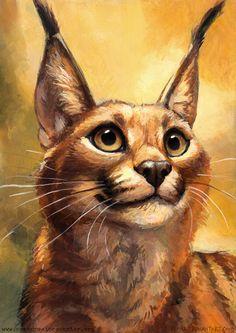 Caracal by kenket on DeviantArt Big Cats Art, Furry Art, Cat Art, Fantasy Kunst, Fantasy Art, Caracal Cat, Serval, Canadian Animals, Cute Kittens