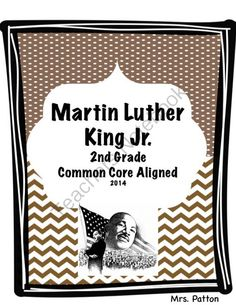 Dr. Martin Luther King Jr. Literacy Unit from MrsPattonShop on TeachersNotebook.com -  (12 pages)  - This unit aligns with most Martin Luther King Jr. literary books.  It is a great unit to do the week before Martin Luther King Day.