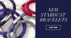 Stardust Black Double Bracelet - Jewelry - Swarovski Online Shop