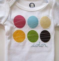 cute onesie idea. love the simplicity!
