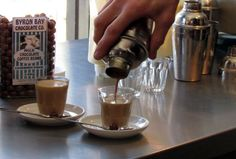 Coffee being poured into a glass in Merlo Torrefazione's store in Fortitude Valley Coffee Drinks, Brisbane, Coffee Maker, Australia, Store, Eat, Glass, Coffee Maker Machine, Coffeemaker
