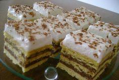TutiReceptek és hasznos cikkek oldala: Habos krémes – finom és csodásan mutat! Minden ünnepi alkalomra megsütöm! Hungarian Recipes, Vanilla Cake, Tiramisu, Dessert Recipes, Food And Drink, Pudding, Sweets, Minden, Ethnic Recipes
