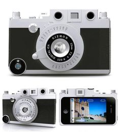 Turn your iPhone into...well it's already a camera, so make your iPhone look like a retro camera.