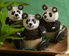 panda bear cupcakes ~ photo inspiration