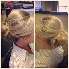 Loose yet classy updo