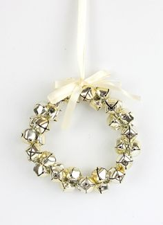 wreathes to hang ornaments   Christmas Xmas Jingle Bell Wreath Hanging Decoration Tree ...