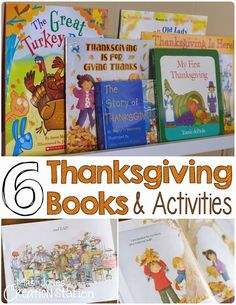 6 Thanksgiving Books & Activities for Little Readers: Preschool, Kindergarten, PreK