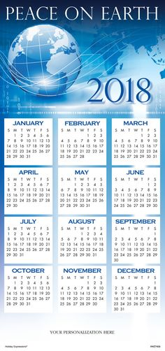 2018 wishes calendar cards an extra handy resource for any office an extra handy resource for any office the universal peace for 2018 calendar card is a great way to spotlight your company name all year long reheart Choice Image
