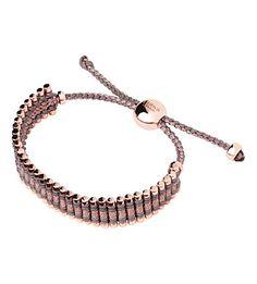 LINKS OF LONDON - Rose gold taupe and copper friendship bracelet | Selfridges.com