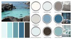 Coastal Paint Colors, Farmhouse Paint Colors, Blue Paint Colors, Blue Colour Palette, Paint Colors For Home, Indoor Paint Colors, Accent Colors, Dinning Room Paint Colors, Glidden Paint Colors