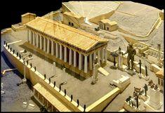 maquette de sanctuaire grec