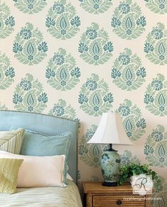 Rani Paisley Damask Allover Stencil | Royal Design Studio