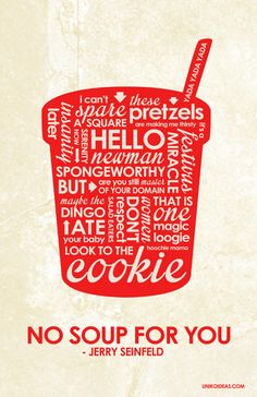 Jerry Seinfeld Inspired Quote Poster by OutNerdMe on Etsy