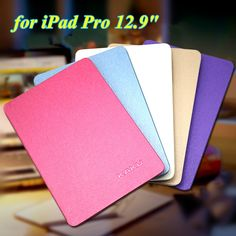 High Quality 8 Colors Ultra Thin Slim Cover for iPad Pro 12.9 Inch Flip Book Cover Tablet Stand Smart Case for Apple iPad Pro