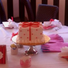 An American Girl Cafe Private Party cake...
