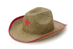 Kids Straw Cowboy Sheriff Party Hat W/star, 1 Pack, Color May Vary -- For more information, visit image link.
