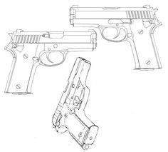 Pistola varias posições