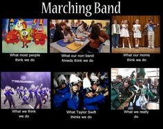Every marching band kid needs to see this! so funny and true! Band Nerd, Band Mom, Love Band, Marching Band Jokes, Marching Band Problems, Marching Band Couples, Marching Music, Flute Problems, Music Jokes