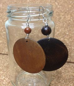 2 pc. Wood Earrings  on Etsy, $18.00