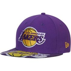 c4a571a2ede23 Men s New Era Purple Los Angeles Lakers Logo Extra 9FIFTY Adjustable Snapback  Hat
