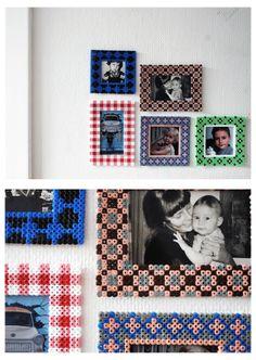 Hama beads frames - Ikea pyssla idea