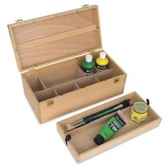 Steam Art, Alternative Artists, Artist Supplies, Organiser Box, Finger Joint, Brass Hardware, Tool Box, Craft Fairs, Hardwood