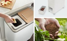 Zera Food Recycler Transforms Food Scraps Into Fertilizer, Food waste doesn't have to go to waste any longer thanks to the Zera Food Recycler. It serves as an automated recycle compost that can turn your food . Modern Kitchen Trash Cans, Green Technology, Useful Life Hacks, Food Waste, Food Hacks, New Recipes, Cleaning Hacks, Zero Waste, Gardening