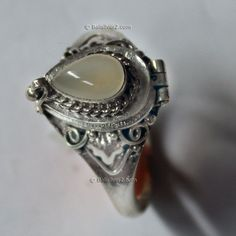 Poison Ring Prayer Box Sterling Silver 925 Bali by Balisilver2, $19.00