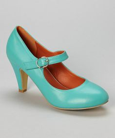 This Blue Kimmy Mary Jane Pump by Chase & Chloe