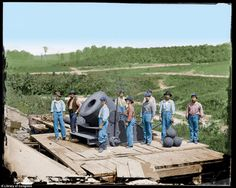 Civil War era: Guntzelman has taken image covering different aspects of the Civil War and painstakingly added color to them using Photoshop