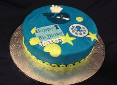 Whale and Friends 1st Birthday Cake