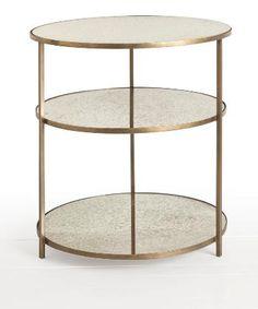 Arteriors Percy Iron / Mirror Side Table