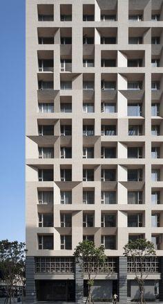 Home Design Exterior Simple Facades Ideas Building Elevation, Building Facade, Building Exterior, High Building, Concrete Facade, Precast Concrete, Tower Design, Facade Design, Facade Architecture