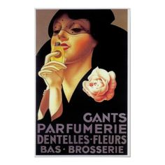 Vintage French Perfume Ad Poster