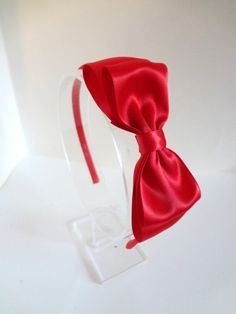 c6be1f771f46 Large Red Bow Headband. Girls Hair Accessories. Teen. Adult. Girls. Hard  Headband. Red Bow Headband. Large Hair Bow. Women Hair Accessories