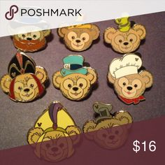 Disney pins Duffy Duffy bear Disney pins. These pins are $2 each but must be sold together or in a bundle! Bundle for a free pin or discount! All pins are authentic Disney Other