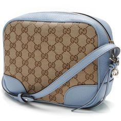 43b9db8c158392 Pre-Owned Gucci Beige/Ebony GG Canvas Bree Mini Messenger Bag ($550)