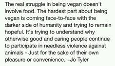 Hardest part of being vegan