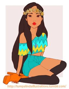 Disney Princesses Redesigned As Hippies From The '60sBit Rebels