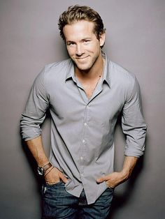 Ryan Reynolds smiling..Especially for you  Miranda!!!!