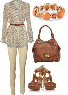 """simple brown"" by mirthelovegymnastics ❤ liked on Polyvore"