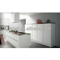 open kitchen design,white kitchen island ,AK347