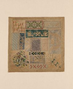 A 19th Century MEXICAN Sampler Dated 1870 ~ The Art Institute of Chicago