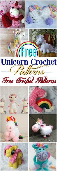 I have made a big list of free #crochet #unicorn #patterns for your inspiration. This list is contained links and details of each pattern.
