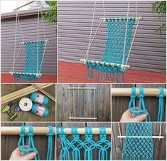 Make This Stunning Macrame Hammock for Your Patio - #homeideas #ideasobjects