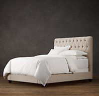 Fairmont Fabric Bed - RH's Fairmont Fabric Bed:Fairmont's indulgent tufting and cushioning surround you in luxury.