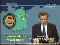 Tagesschau from 9. November 1989. News report on the unexpected opening of the inner-German border.