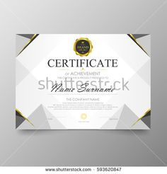 Certificate Premium template awards diploma background vector modern value design and layout luxurious .cover leaflet elegant horizontal Illustration in size pattern. Certificate Of Merit, Certificate Of Achievement, Certificate Design Template, Ppt Template, Travel Brochure Design, Company Names, Life Quotes, Apollo, Banner