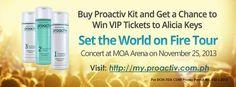 Christian Lizardo Aligo: VIP Tickets to Alicia Keys' Concert? Proactiv Can Give You One